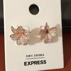 EXPRESS Cubic Zirconia Floral Earrings